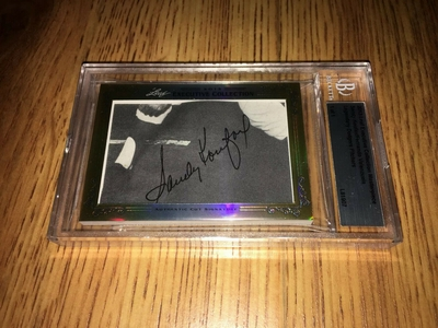 Sandy Koufax and Fernando Valenzuela 2013 Leaf Masterpiece Cut Signature certified autograph card 1/1 JSA