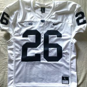 Saquon Barkley Penn State 2016 authentic Nike white stitched wide cut size LARGE sleeveless jersey NEW WITH TAGS