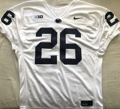 Saquon Barkley Penn State authentic Nike white stitched jersey with elastic sleeve cuffs
