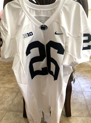 Saquon Barkley Penn State 2016 authentic Nike stitched white pro cut jersey NEW WITH TAGS