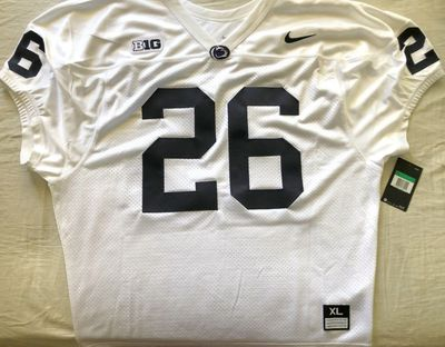 Saquon Barkley Penn State authentic Nike white stitched wide cut sleeveless jersey NEW WITH TAGS