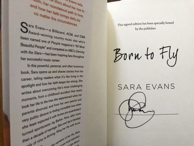 Sara Evans autographed Born to Fly hardcover signed edition book