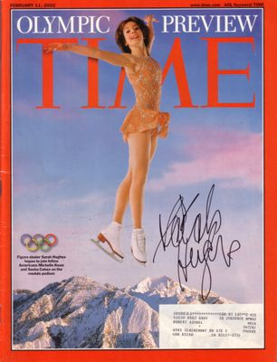 Sarah Hughes autographed ice skating 2002 Olympic preview Time magazine
