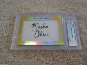 Sasha Cohen 2014 Leaf Masterpiece Cut Signature certified autograph card 1/1