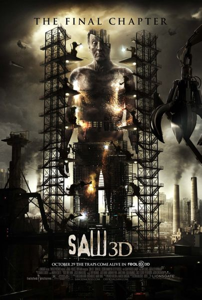 Saw 3D mini 2010 movie poster