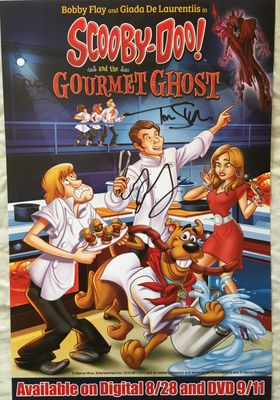 Scooby-Doo and the Gourmet Ghost autographed 2018 Comic-Con poster (Grey Griffin)