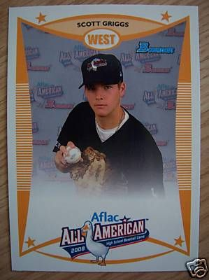 Scott Griggs 2008 AFLAC Bowman Rookie Card
