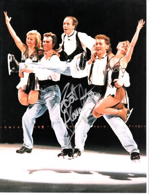 Scott Hamilton autographed Stars on Ice full page skating magazine photo