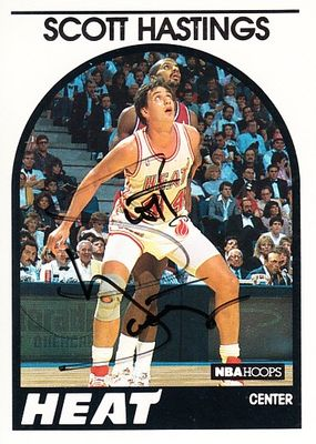 Scott Hastings autographed Miami Heat 1989-90 Hoops card