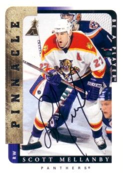 Scott Mellanby certified autograph Florida Panthers 1997 Be A Player card