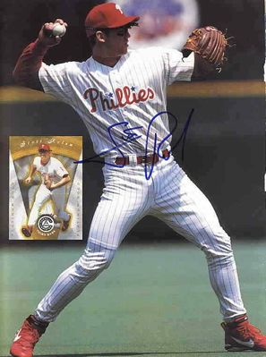 Scott Rolen autographed Philadelphia Phillies Beckett back cover photo