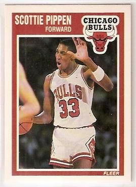 Scottie Pippen Chicago Bulls 1989-90 Fleer second year card