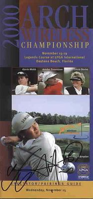 Se Ri Pak autographed 2000 LPGA Arch Wireless golf pairings guide