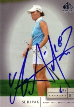 Se Ri Pak autographed 2004 SP Signature golf card