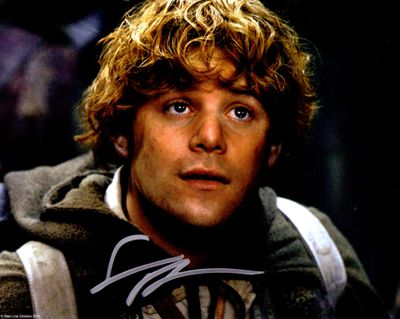 Sean Astin autographed Lord of the Rings 8x10 Sam movie photo