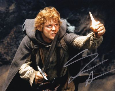 Sean Astin autographed Lord of the Rings 8x10 Return of the King movie photo