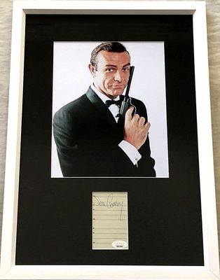 Sean Connery autograph matted and framed with James Bond 007 8x10 photo (JSA)