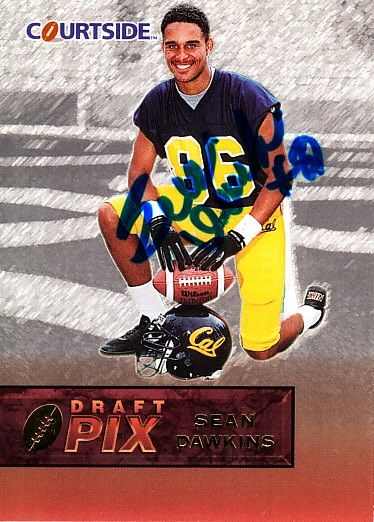 Sean Dawkins autographed Cal Bears 1993 Courtside promo card