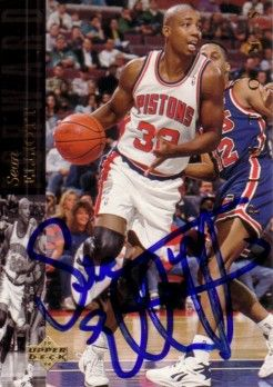 Sean Elliott autographed Detroit Pistons 1993-94 Upper Deck card