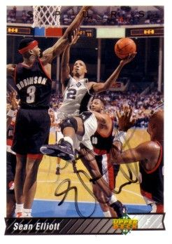 Sean Elliott autographed San Antonio Spurs 1993-94 Upper Deck card
