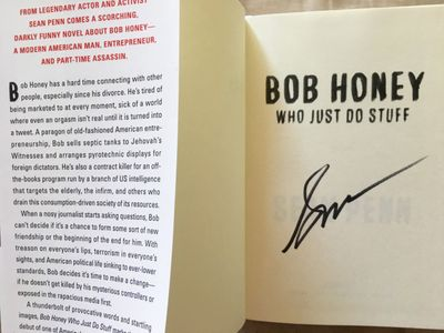 Sean Penn autographed Bob Honey hardcover first edition book