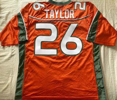 Sean Taylor Miami Hurricanes 2001 to 2003 authentic Nike orange stitched XL jersey with Big East patch NEW