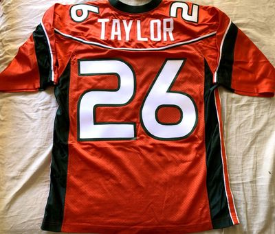 Sean Taylor Miami Hurricanes 2001 to 2003 authentic Nike orange stitched MEDIUM jersey