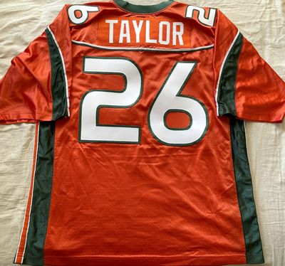 Sean Taylor Miami Hurricanes 2001 to 2003 authentic Nike orange stitched 2XL jersey