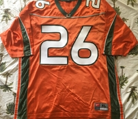 Sean Taylor Miami Hurricanes 2001-2003 original authentic Nike double stitched orange jersey
