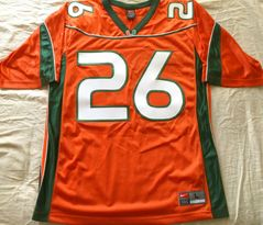 Sean Taylor Miami Hurricanes original 2001-2003 authentic Nike stitched orange size LARGE jersey NEW