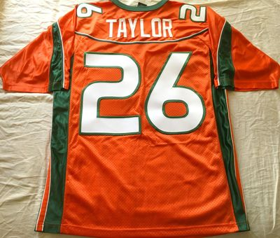 Sean Taylor Miami Hurricanes original 2001 to 2003 authentic Nike stitched orange jersey NEW