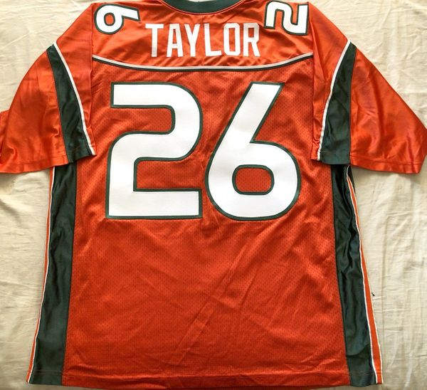 Sean Taylor Miami Hurricanes 2001 to 2003 authentic Nike orange stitched 2XL jersey NEW
