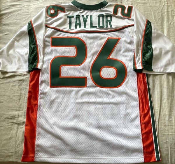 Sean Taylor Miami Hurricanes 2001 to 2003 authentic Nike white stitched 2XL jersey