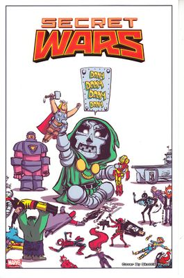 Secret Wars 2015 Comic-Con Marvel Comics artwork print by Skottie Young