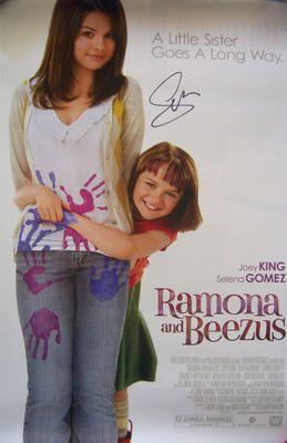 Selena Gomez autographed Ramona and Beezus mini 13x20 movie poster