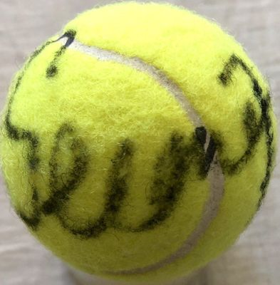 Serena Williams and Venus Williams autographed tennis ball