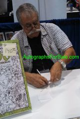Sergio Aragones autographed Groo characters 11x17 lithograph with sketch