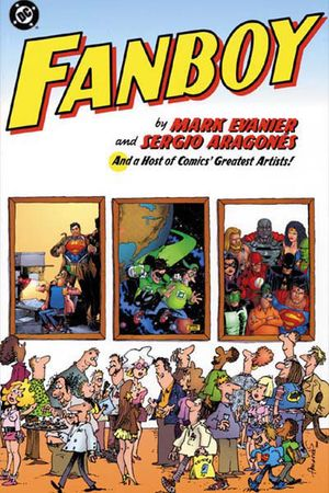 Sergio Aragones autographed and sketched Fanboy trade paperback DC comic book
