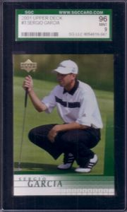 Sergio Garcia 2001 Upper Deck Rookie Card SGC 96 MINT (PSA 9)