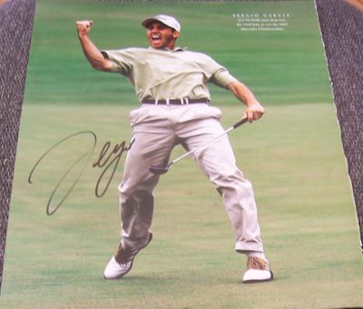 Sergio Garcia autographed 2002 Mercedes Championships 10x13 golf photo