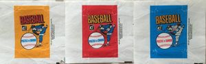 Set of 3 different 1983 Donruss baseball wax pack wrappers