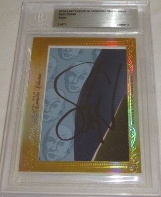 Seth Green 2014 Leaf Masterpiece Cut Signature certified autograph card 1/1 JSA