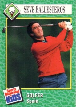Seve Ballesteros 1990 Sports Illustrated for Kids golf Rookie Card