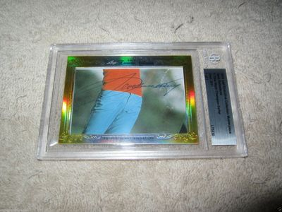 Seve Ballesteros 2014 Leaf Masterpiece Cut certified autograph card 1/1 JSA