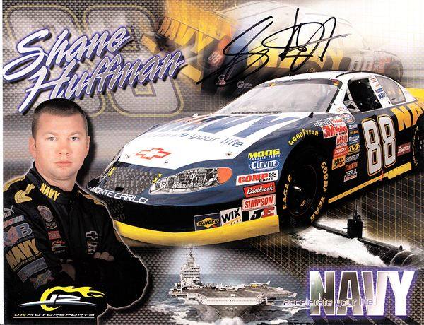 Shane Huffman autographed NASCAR photo card