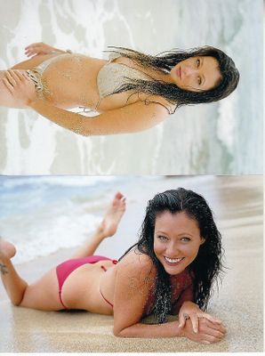 Shannen Doherty set of 2 4x6 inch sexy bikini photos