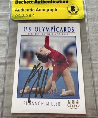 Shannon Miller autographed 1992 U.S. Olympic Hopefuls card (BAS authenticated)