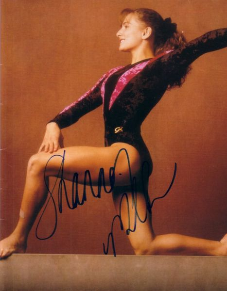 Shannon Miller autographed 7x8 gymnastics photo (full name signature)