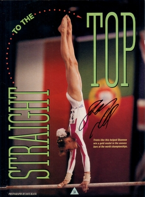 Shannon Miller autographed full page magazine gymnastics photo