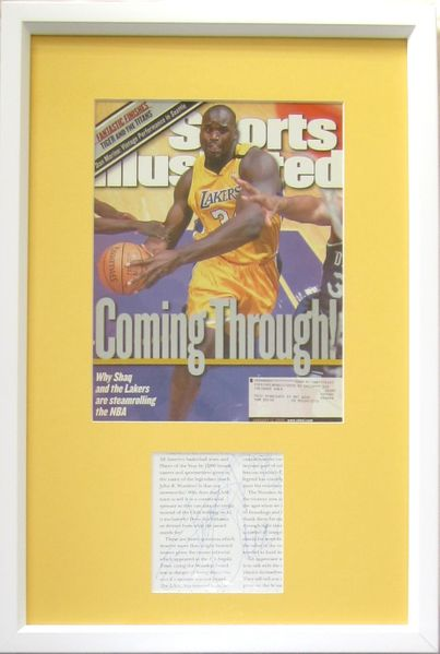 Shaquille O'Neal autograph matted & framed with Los Angeles Lakers 2000 Sports Illustrated magazine cover